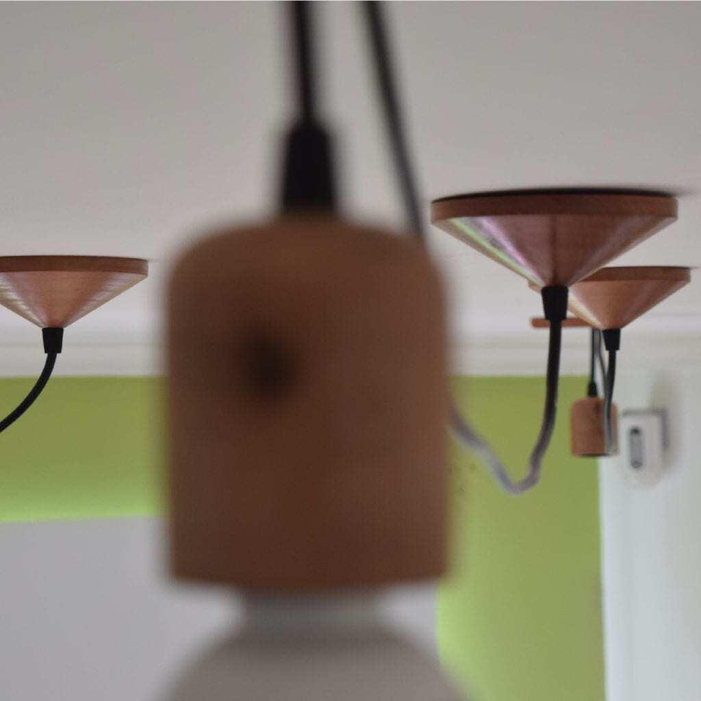Pantalla de lámpara - pantalla de madera