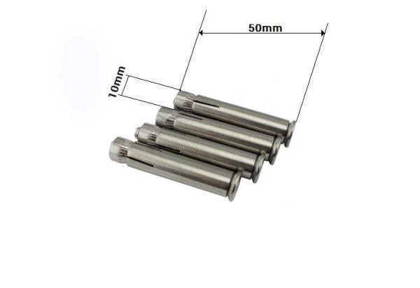 4 Pernos de anclaje para kit de suspension de hamaca