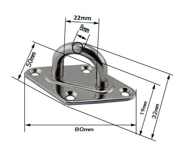 Placa de montaje en techo para hamaca colgante