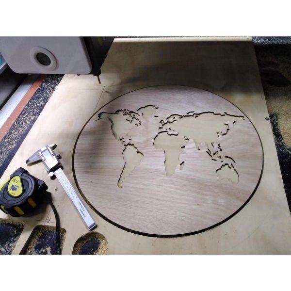 reloj mapamundi en santiago