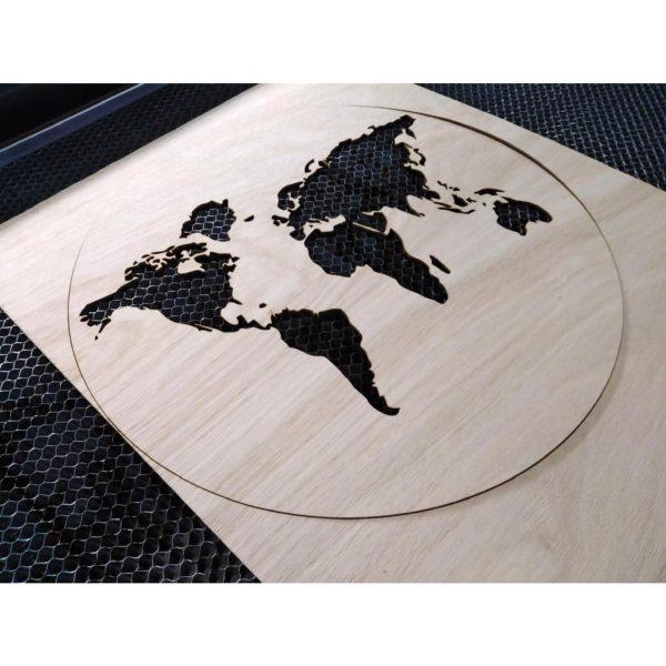 reloj mapamundi