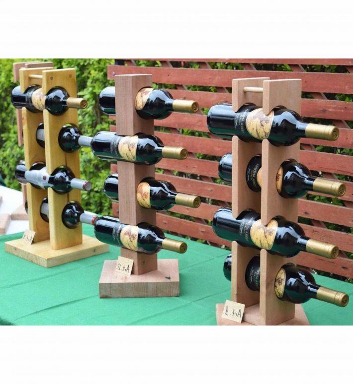 Porta vinos de madera